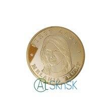 100 pçs/lote Ouro/Prata Banhado EUA Primeira Dama Melania Trump Eagle Moeda De Metal DHL Frete Grátis