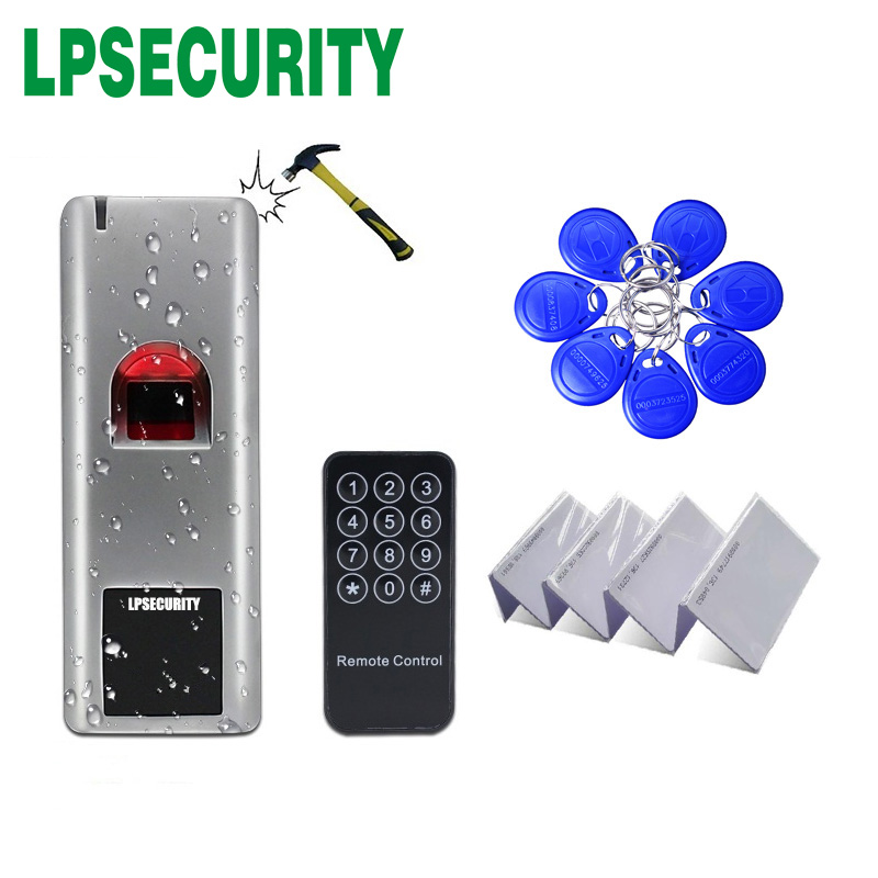 Outdoor Standalone Metal Case Door Lock Biometric Fingerprint Access Control Scanner RFID 125KHZ WG26 Output Reader 1000users