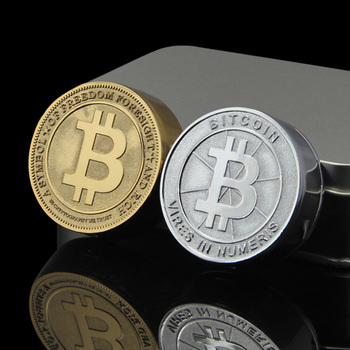 New Hot Bitcoin Electronic USB Lighters Metal Carving Coin Cigar Lighter Unique Men Gift Gadgets Bar Fire With Metl Box