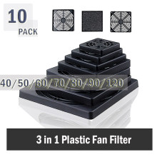 10PCS Gdstime Staubdicht 40mm 50mm 60mm 80mm 90mm 120mm PC Case Fan Staub filter Schutz Grill Protector Abdeckung Kunststoff ComputerFan(China)
