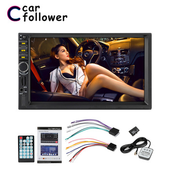 7021G Autoradio Car Audio 2 Din GPS Navigation 7'' LCD Touch Screen MP5 Auto Radio Stereo Bluetooth FM Car Multimedia Player image