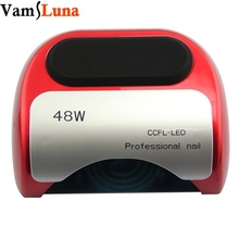 48W UV lamp for nail Polish Gel fast dry Curing Nail tools with automatic sensor & magnetic bottom nail dryer