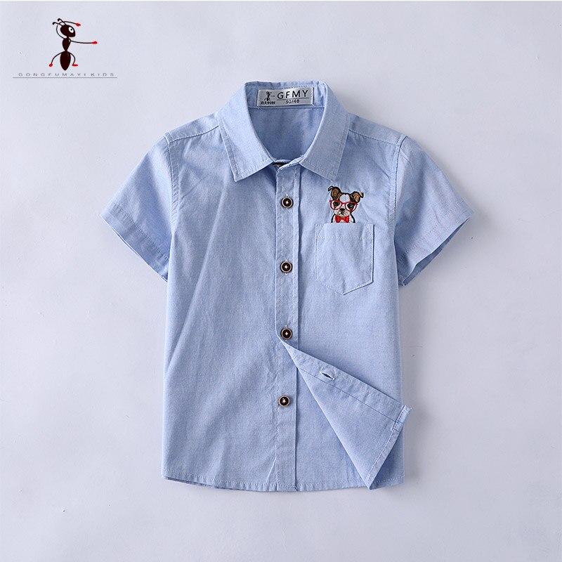 Shirts Kung Fu Ant 2018 Kurzarm Shirts Sommerkleidung Für Kinder Umlegekragen Blusen Ne3026