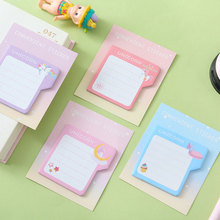 1X kawaii Sleeping cat weekly plan Sticky Notes Post It Memo Pad stationery School Supplies Planner Stickers Paper Bookmarks 2pcs lot kawaii british style memo pad weekly plan sticky notes post stationery school supplies planner paper stickers