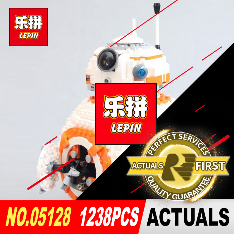 Lepin 05128 The Double B 8 Robot Set Star Genuine Classic Series Model legoed 75187 Building Blocks Bricks to Children gift WARS цена