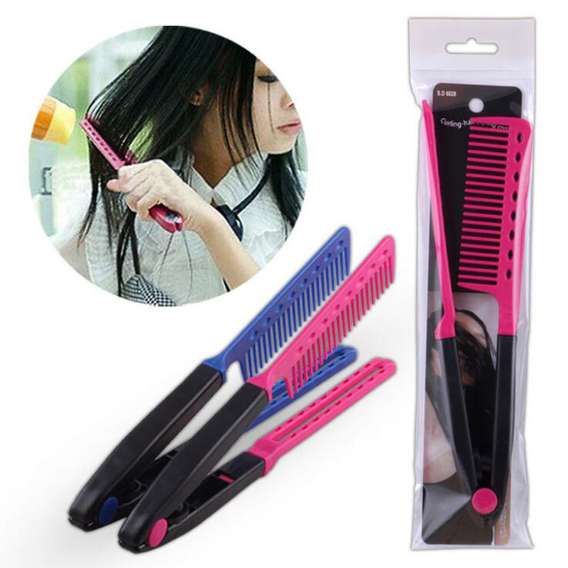 newest hair styling tools new hair styling combs hair v clip design curls 4388 | New hair styling combs straight hair V clip design curls hair tools