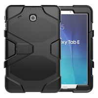 Shockproof Hard Armor Heavy Duty Design With Kickstand Cover For Samsung Galaxy Tab E 9 6Inch