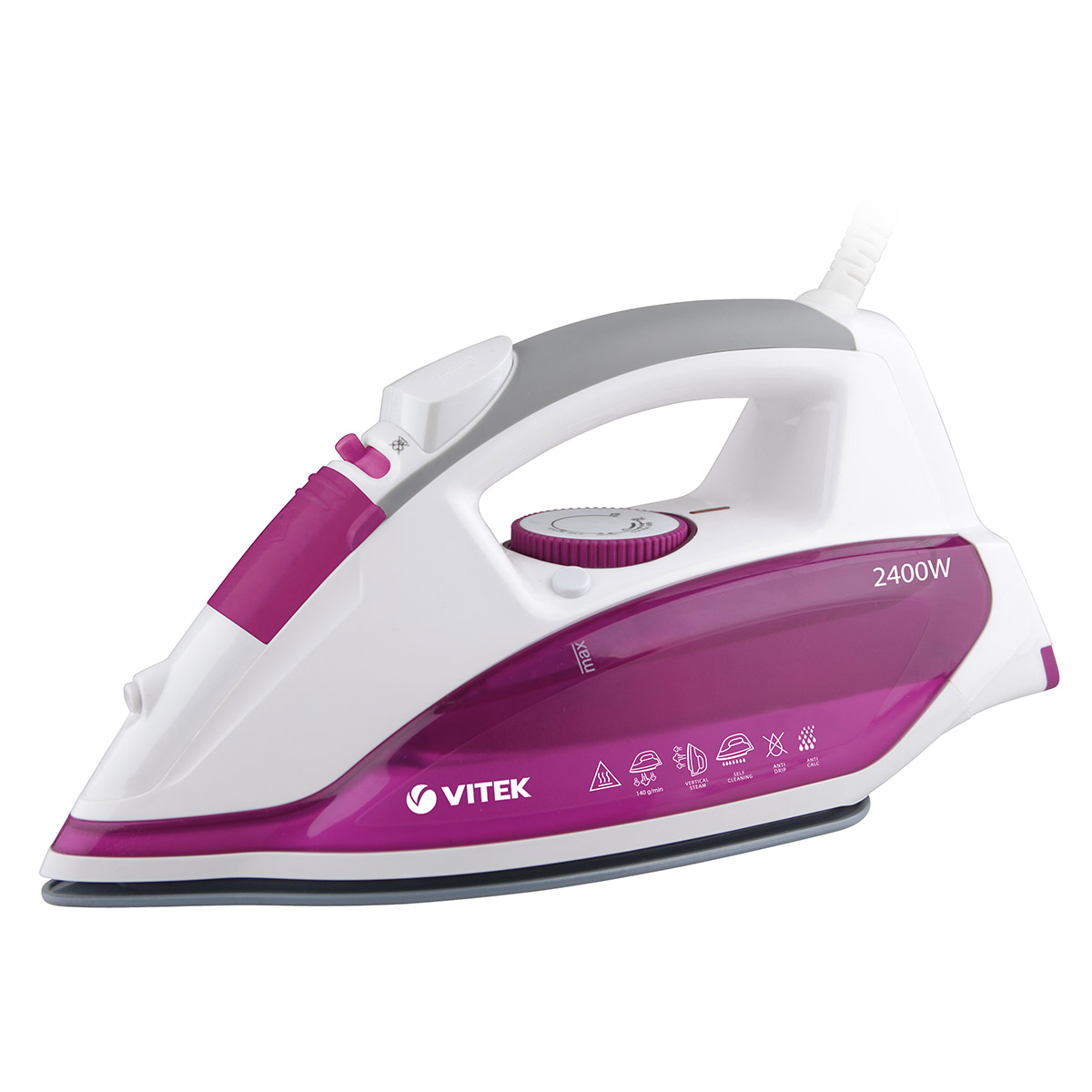 Steam iron VITEK VT-1262(PK) iron vitek vt 1215 iron steam generator iron for ironing irons steam iron electriciron