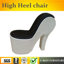 U-BEST Sex shoe high heel sofa chair,indoor fiberglass shoe shape chair for leisure(China)