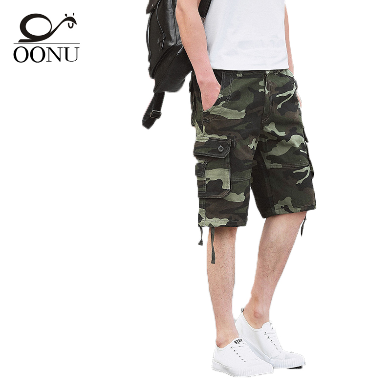 YOLAO Quality guaranteed Military Green Camouflage/Camo Men Shorts Casual Multicam Bermuda Military Cargo Shorts 29 44