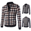 New Arrival casual plaid mens coats and jackets  coat 2 colors M 3XL 4XL 5XL JPY205