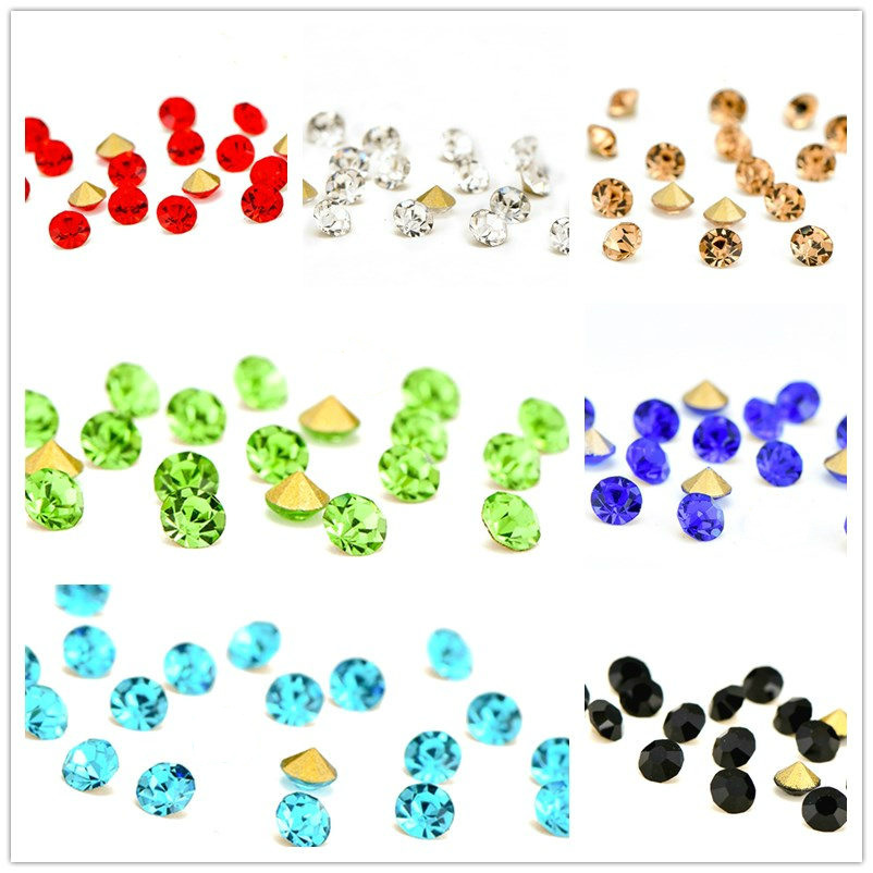 300 Unids Mezclado Ab Diamante Nail Art Rhinestones Blanco Nail - Arte de uñas