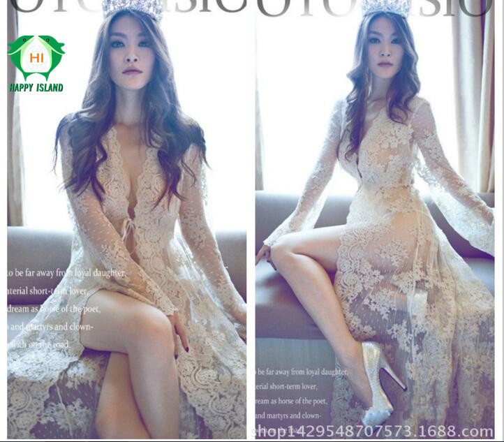Royal Style Maternity Photography Props Long Lace Maternity Dress For Photo Shoot Pregnant Clothes for Pregnant Women Fancy ...