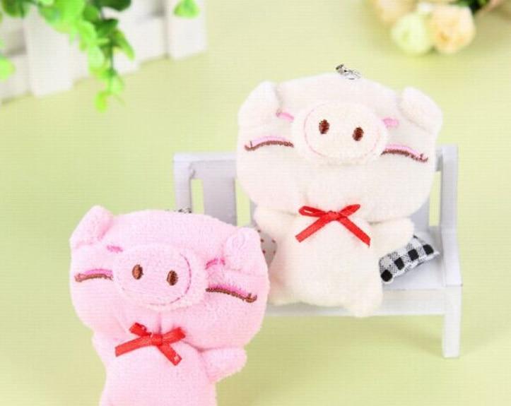 2Colors – Kawaii Little 8CM Piggie Plush Stuffed Toy Doll – Kid's Party Gift Toy , String Pendant wedding Bouquet Plush Toys