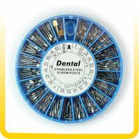 Poste de tornillo de acero inoxidable Dental 120 Uds. Y Poste de tornillo Dental de 2 teclas suministros dentales materiales dentales envío gratuito