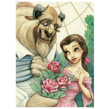 Beauty And The Beast Diamond Embroidery Romantic 5D Full Cross Stitch Square Sets Decorative Painting Cartoon