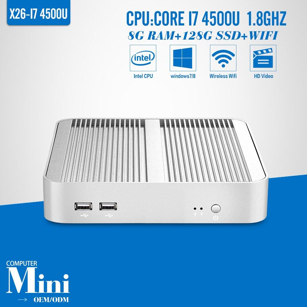 I74500u 8g ram 320g hdd de mini pc computadoras pc de escritorio de cliente lige