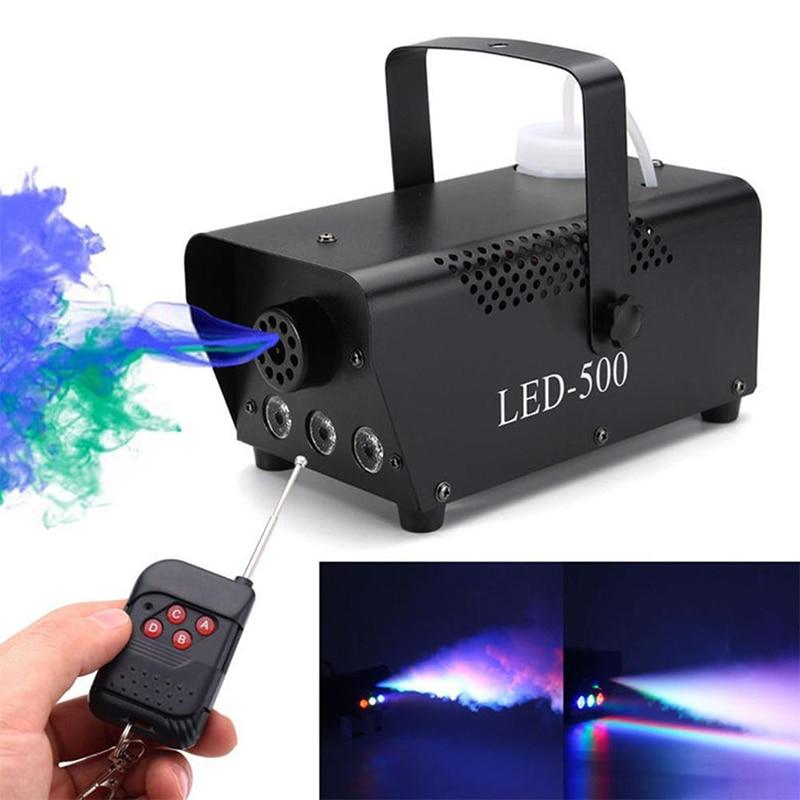 Aletler'ten Makine Merkezi'de 500W uzaktan kumanda sahne sis makinesi LED renk değişikliği duman jeneratörü renkli püskürtme makinesi sahne aydınlatma