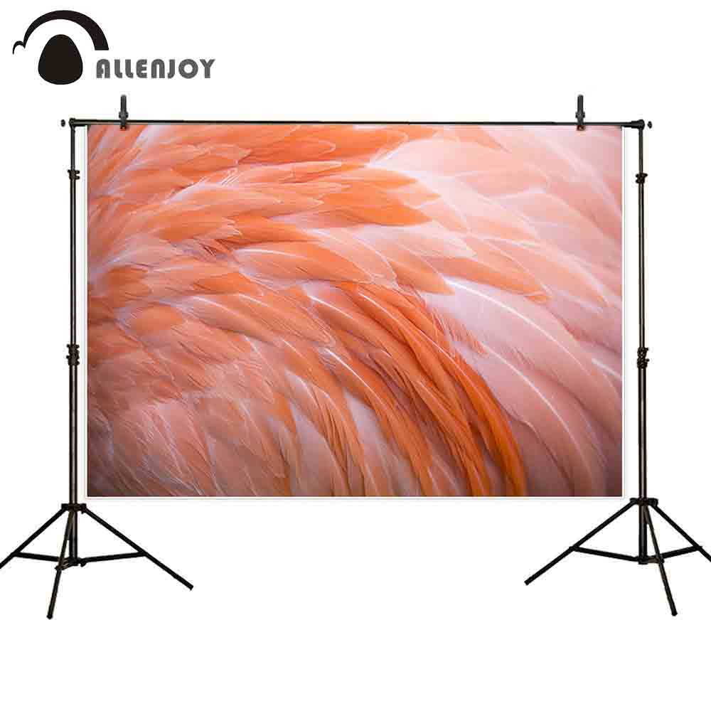 Us 9 17 34 Off Allenjoy Backdrops Background Peach Pink Real Feather Ballet Dance Party Realist Brave Dream Photographic Photocall Wallpaper In