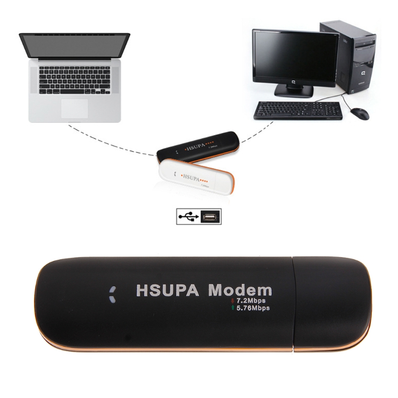 HSUPA USB STICK SIM Modem 7.2Mbps 3G Wireless Network Adapter with TF SIM Card image