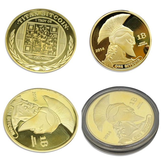 2018 One Memorable Physical Bitcoins Gold Color Coins Medal Usa Us Uk Dollar Money Digital Litecoin Okcoin Marks Euros Btc