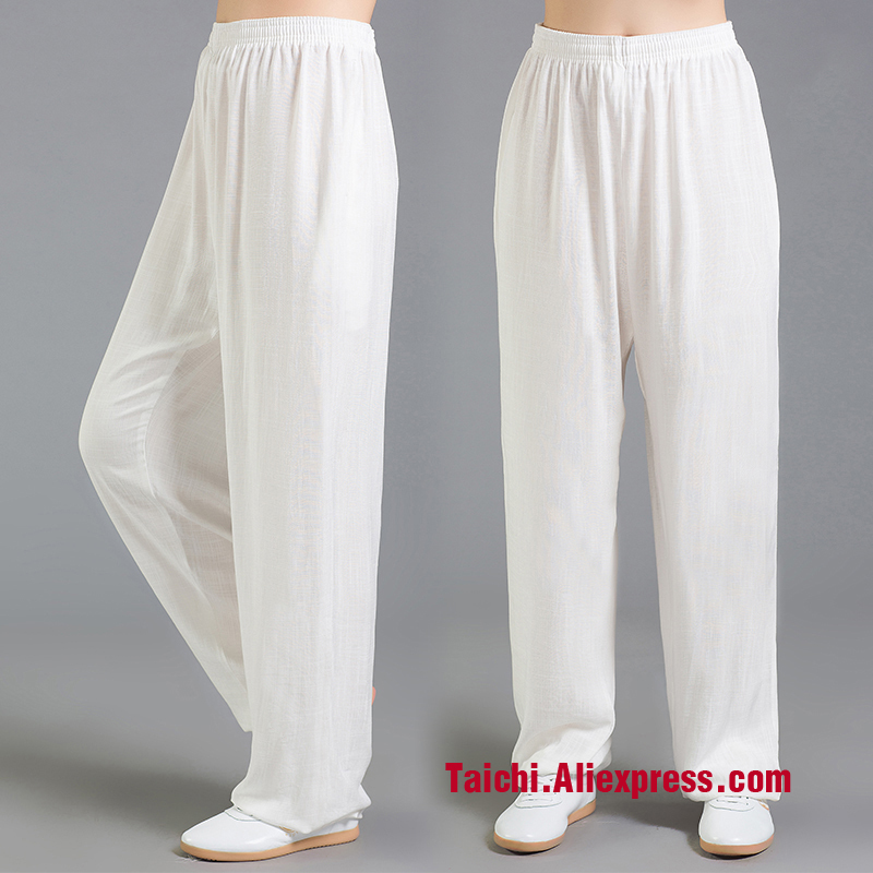 Linen  Tai Chi Pants Wu Shu Pants Kungfu Trousers  Kung Fu martial Art Pants Yoga  Pants  9 color S-XXXL