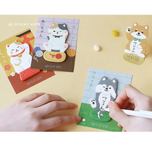 4 pcs Likable sticky notes Kawaii dog cat diary stickers Stationery Office accessories School supplies FM119