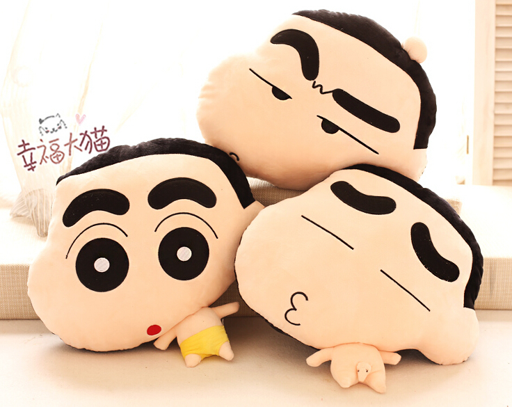 Gift for kids 1pc 45cm funny expression Crayon Shin chan cute plush hold doll pillow cushion novelty children stuffed toy 8pcs lot anime crayon shin chan mini pvc action figure cute crayon shin chan figures toys doll collectible model toy gift
