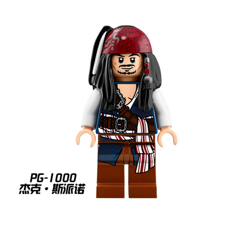 PG1000 Diy Buildng Blocks Bricks legoing figures Single Sale Jack Sparrow Pirates of the Caribbean 71042 Toys for Children Gifts ...