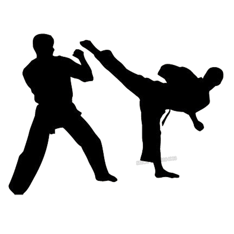 Wall Vinyl Sticker Decal Mural Dual Karate Fight Martial Art Sport Wall Decals For Boy Bedroom Home Decoration Art Mural L032