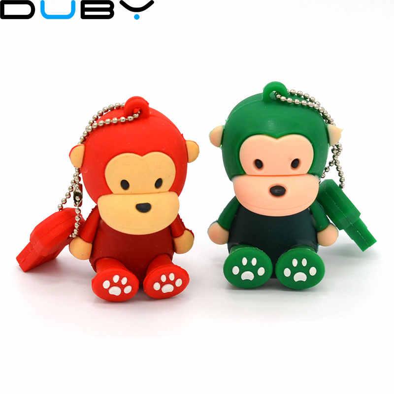 Розничная продажа Подлинная 2G/4G/8G/16G/32G флэш-накопитель с героями мультфильма подставка обезьяна Силиконовая ручка привод usb флэш-накопитель Бесплатная доставка + Прямая доставка