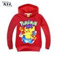 2016 Pokemon Go Cartnon Boys Girls Clothes Children T-Shirts Kids Baby Clothing Boys Girls Long Sleeve Sweatshirt T Shirt Tops