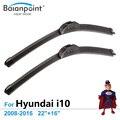 "Escovas para Hyundai i10 2008-2016 22 ""+ 16"", conjunto de 2, HD Limpadores De Borracha de Grafite"