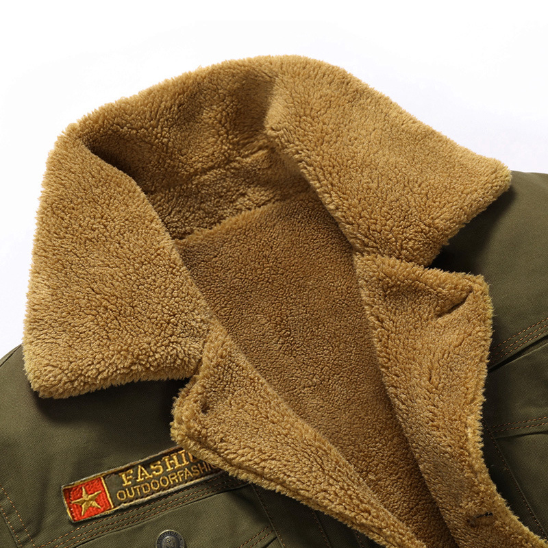 Winter-Bomber-Jacket-Men-Air-Force-Pilot-MA1-Jacket-Outerwear-Cotton-Thick-Fur-Collar-Warm-Military