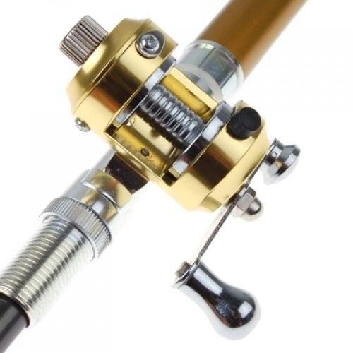 Labs darjums Jaunais Zelta Mini kabatas alumīnija sakausējuma zivju - Makšķerēšana - Foto 6