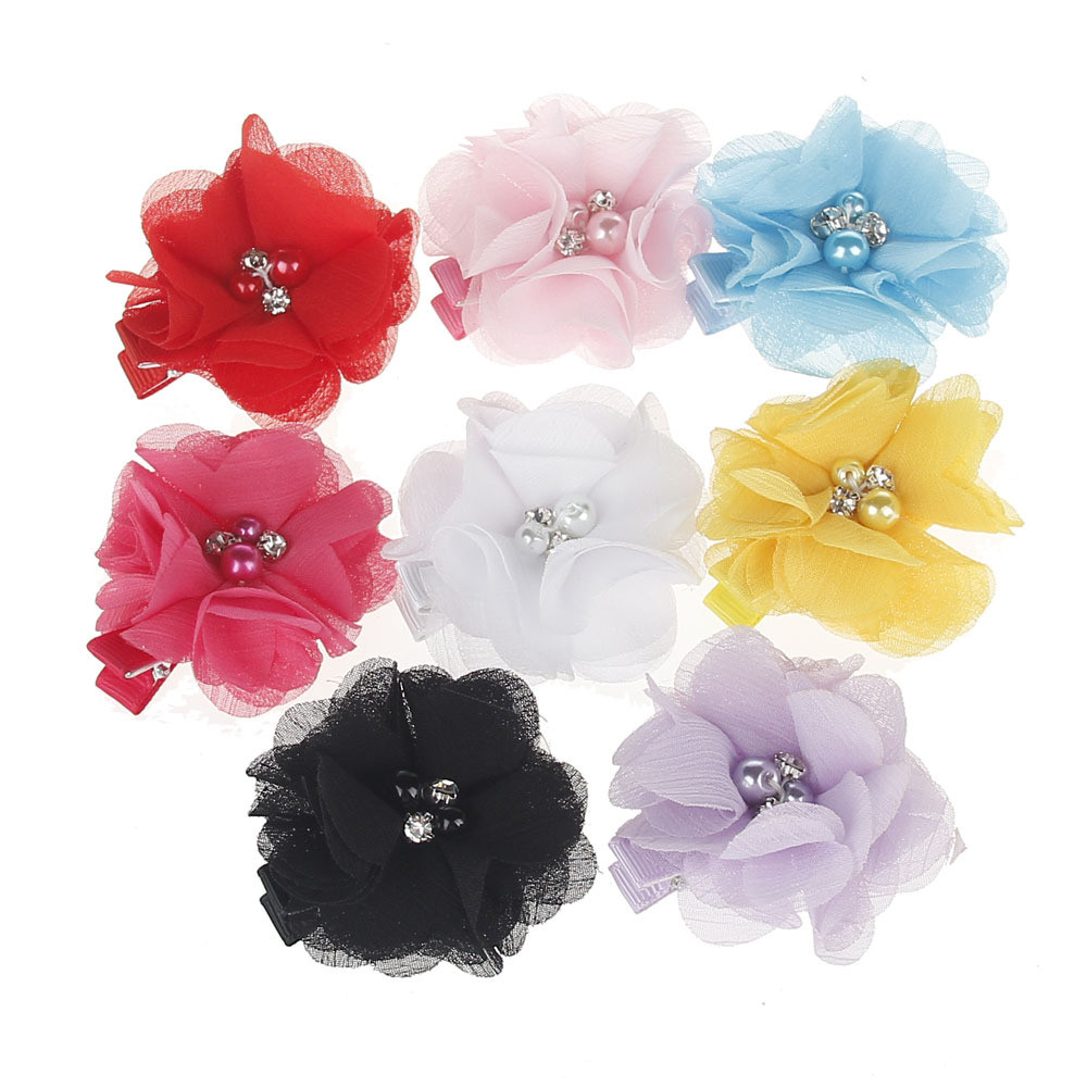 Cute Flower Pearl Children kids Girl Jewelry Hair Clip HairPins Accessories hair-accessories hair clips for girls lysumduoe headband black hairpin women clip s shape barrette girl hairgrip hairgrips children hairpins jewelry hair accessories