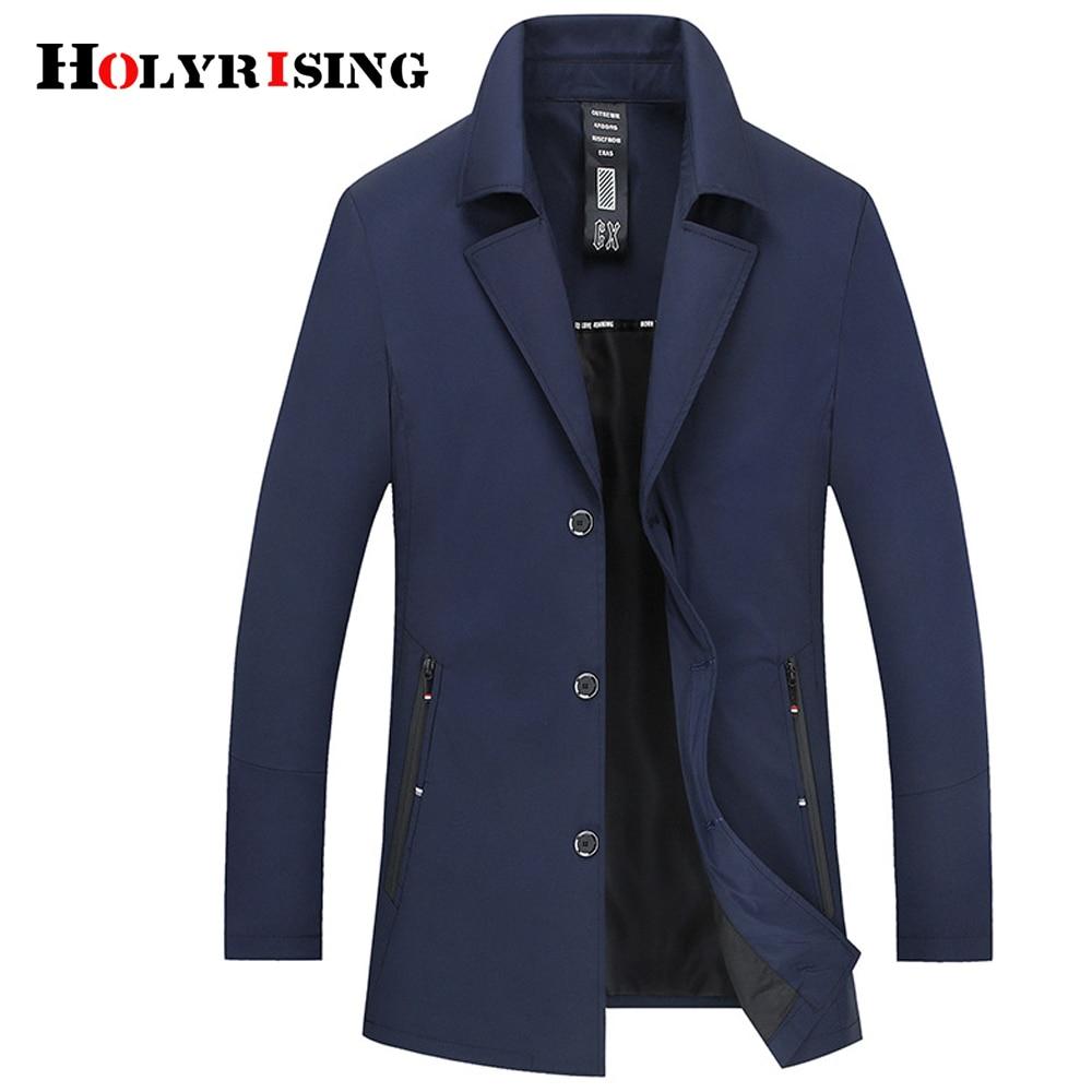 Holyrising   Trench   Coat Men Casual Overcoat Thin Turn Collar Coats and Jackets Stylish Windbreaker Soft Coat For Male Hot 18459-5