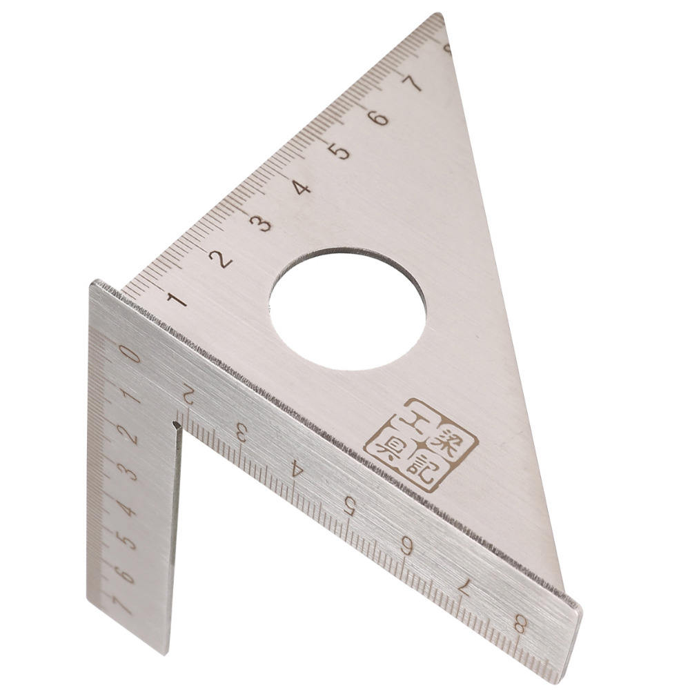 1Pcs New Woodworking Ruler Square Layout Miter Triangle Rafter 45 Degree 90 Degree Metric Gauge Measuring Tools Hand Tools