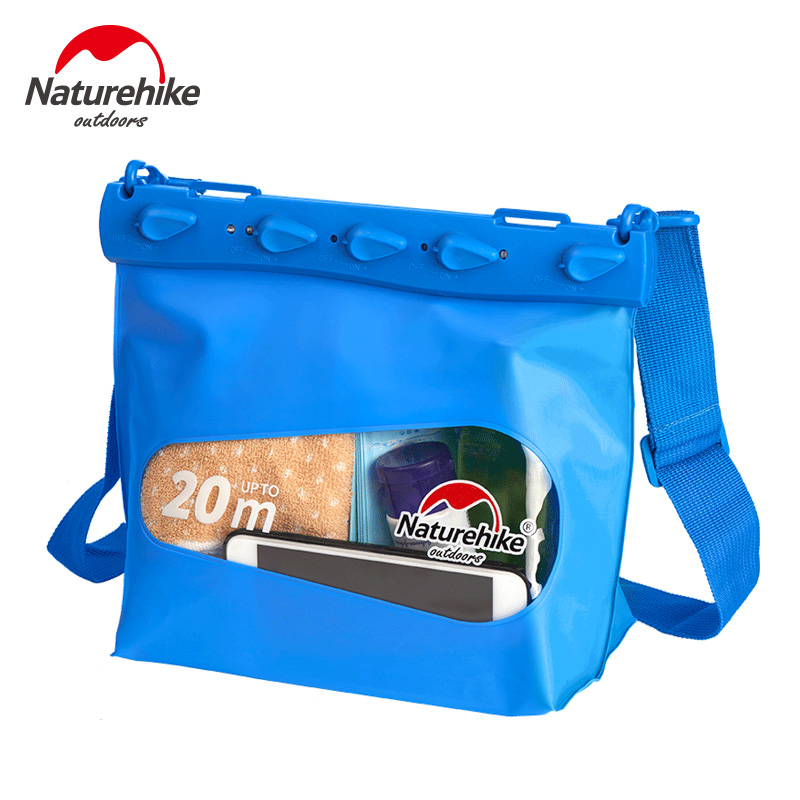 Naturehike Outdoor Swimming Bag For Phone Camera Diving Drifting Men Women Shoulder Waterproof Bag майка мужская oodji basic цвет темно синий индиго 5b700000m 44133n 7901n размер xs 44