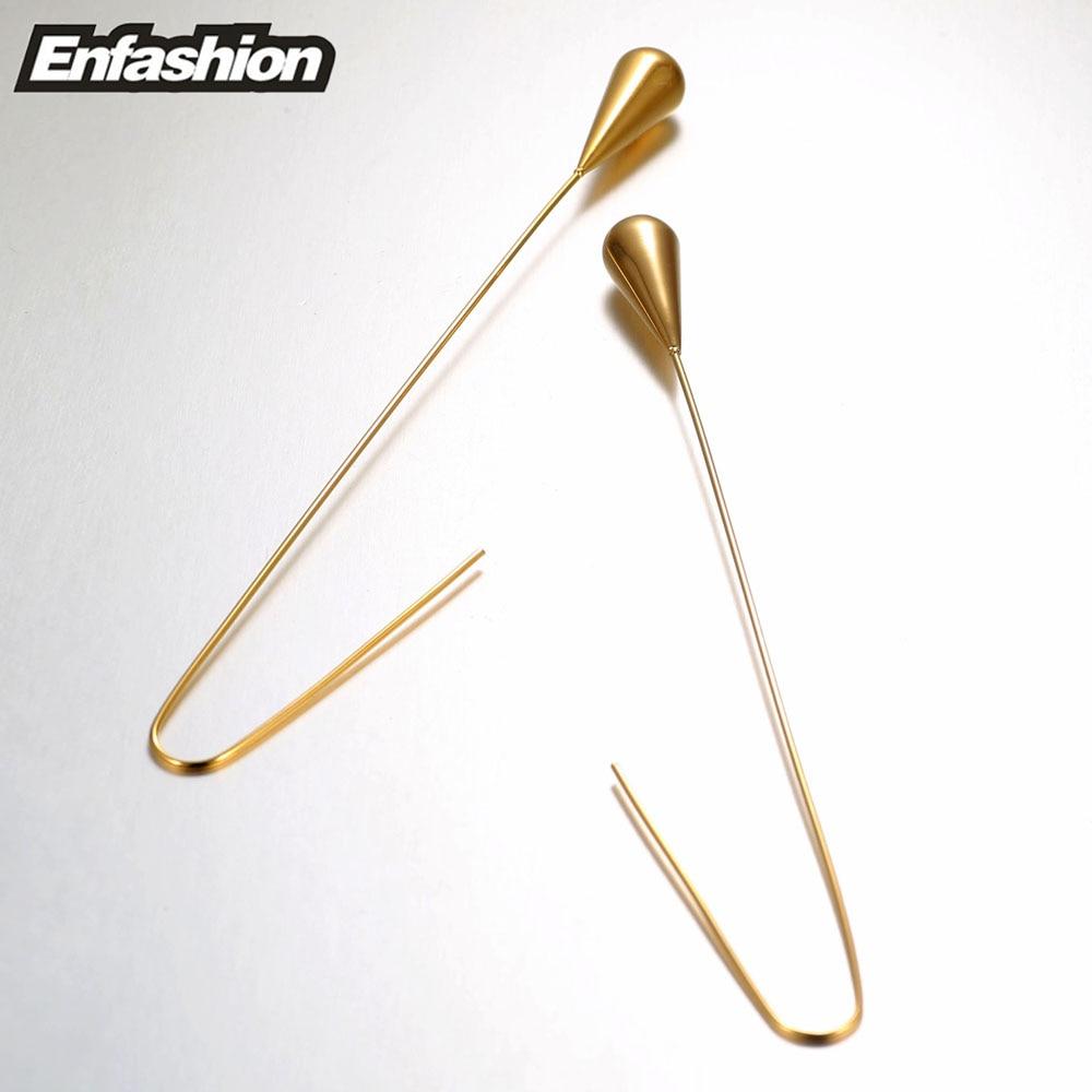 Enfashion oblik kapi vode visiti naušnice zlatne boje naušnice pada - Modni nakit - Foto 6