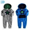 IDGIRL Inverno Macacão de Bebê Recém-nascido Infantil Roupas Encantador 2016 New Cotton One Piece Baby Boy Estrela Impresso Macacão JY0287