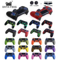 DATA FROG Anti-slip Silicone Rubber Cover For SONY Playstation4 Controller Soft Gel Rubber Skin Case For PS4 Pro Slim Gamepad