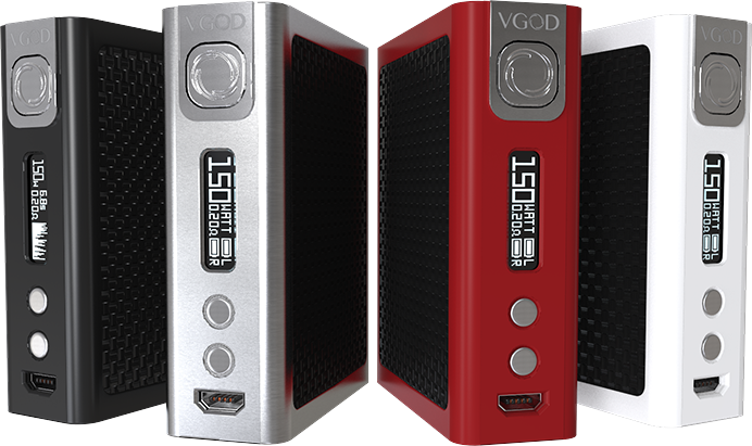 Original VGOD PRO 150 TC Box Mod OLED display 510 Thread fit VGOD drip tip RDA tank Electronic Cigarette Box Mod