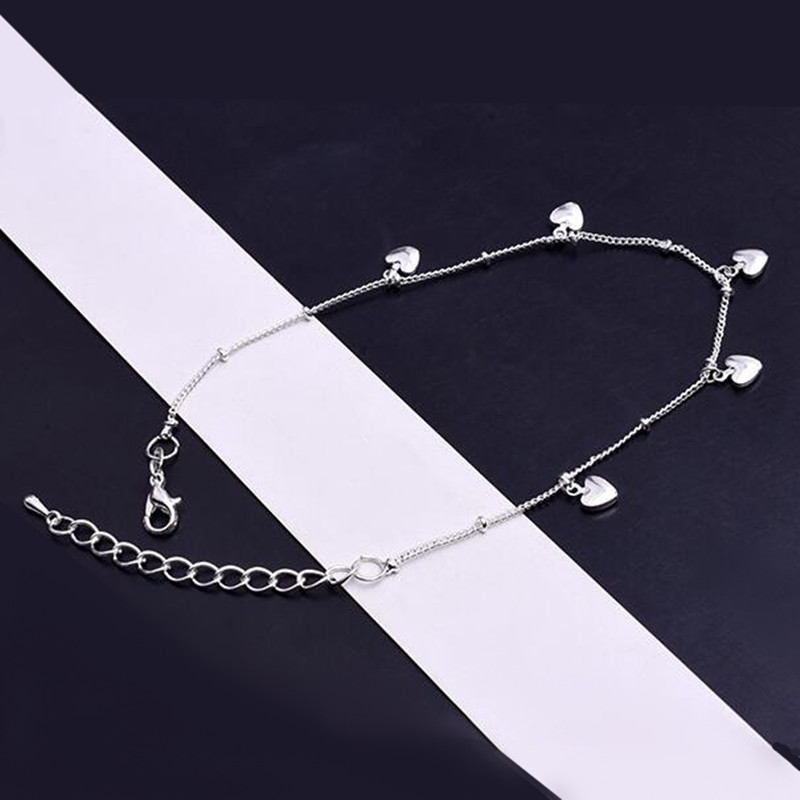 2020 New Love Heart Bracelets on leg the Anklets Beach Barefoot Sandals Foot Jewelry For Women Fashion Brand 2020 New Arrival 2