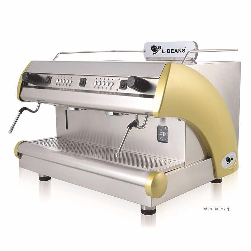 Коммерческая кофеварка, итальянская полуавтоматическая кофемашина с двойной головкой, электронная управляемая Коммерческая кофемашина