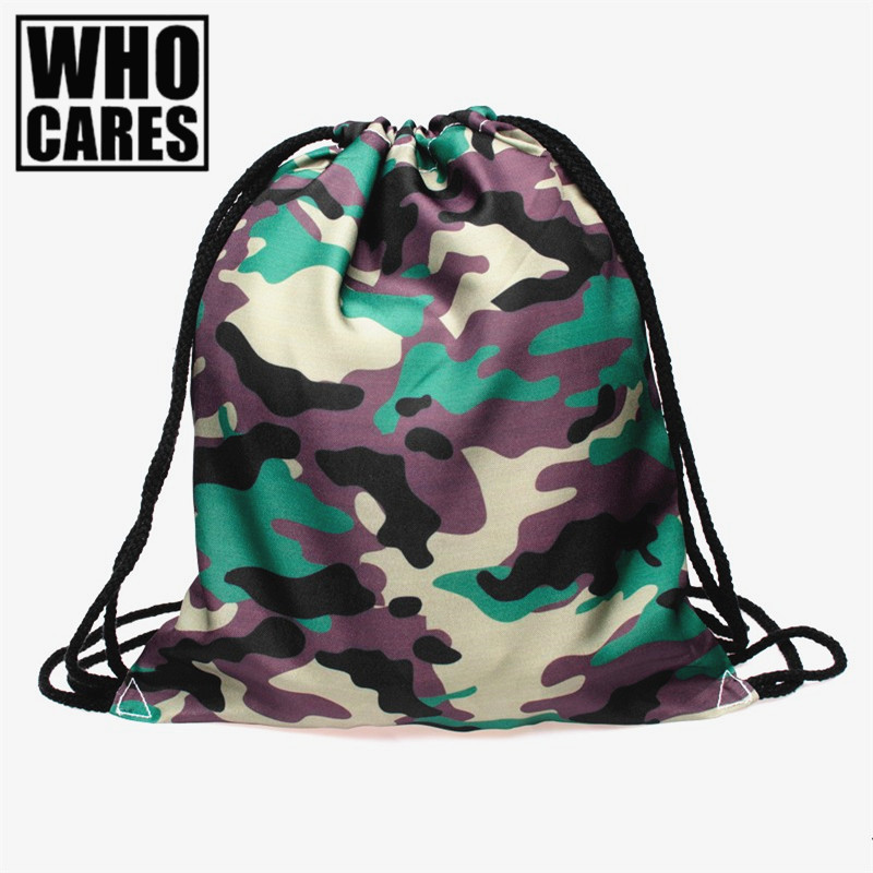 Military backpack women Camouflage 3D Printing 2017 Fashion Drawstring bag mini backpack mochila feminina mochilas sac a dos