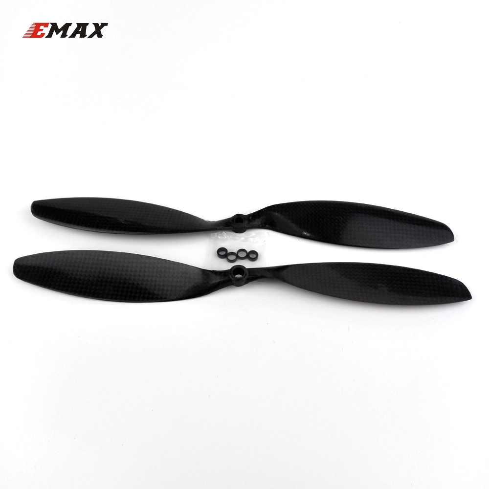 2pairs EMAX 1238 propeller APC/SF carbon fiber CW/CCW props 12 x 3.8 inch for quadcopter FPV multi axis copter drone parts 5055 carbon fiber propeller cw ccw 2 pair for 200 250 300 quadcopter black 2 pairs