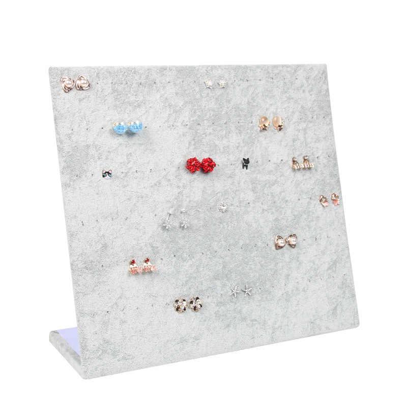 Фланелевая шкатулка Ювелирные изделия дисплей серьги гвоздики цепочки и ожерелья кулон хранения Витрина стойки Дело доска подарок