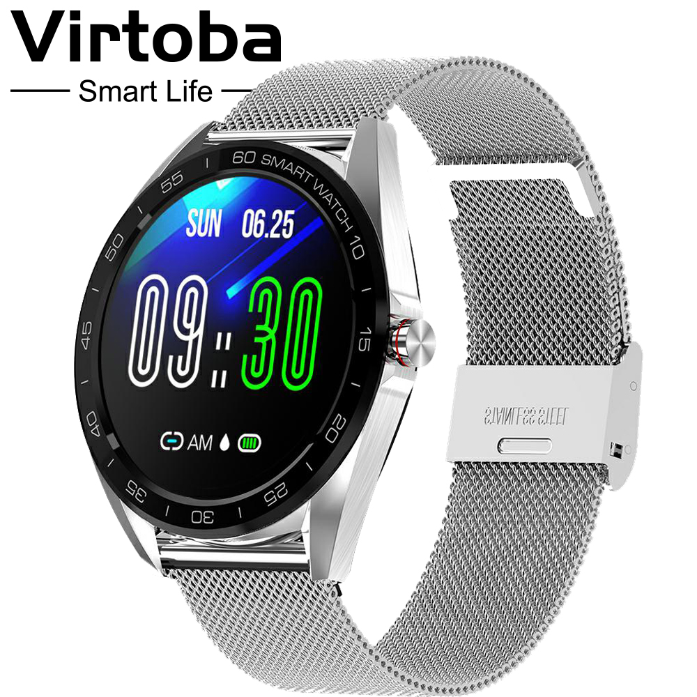 "Virtoba K7 1.3"" Smart Watch Men IP68 Bluetooth Blood Oxygen Heart Rate Monitor Fitness Tracker Sports Smartwatch Android iOS-in Smart Watches from Consumer Electronics"