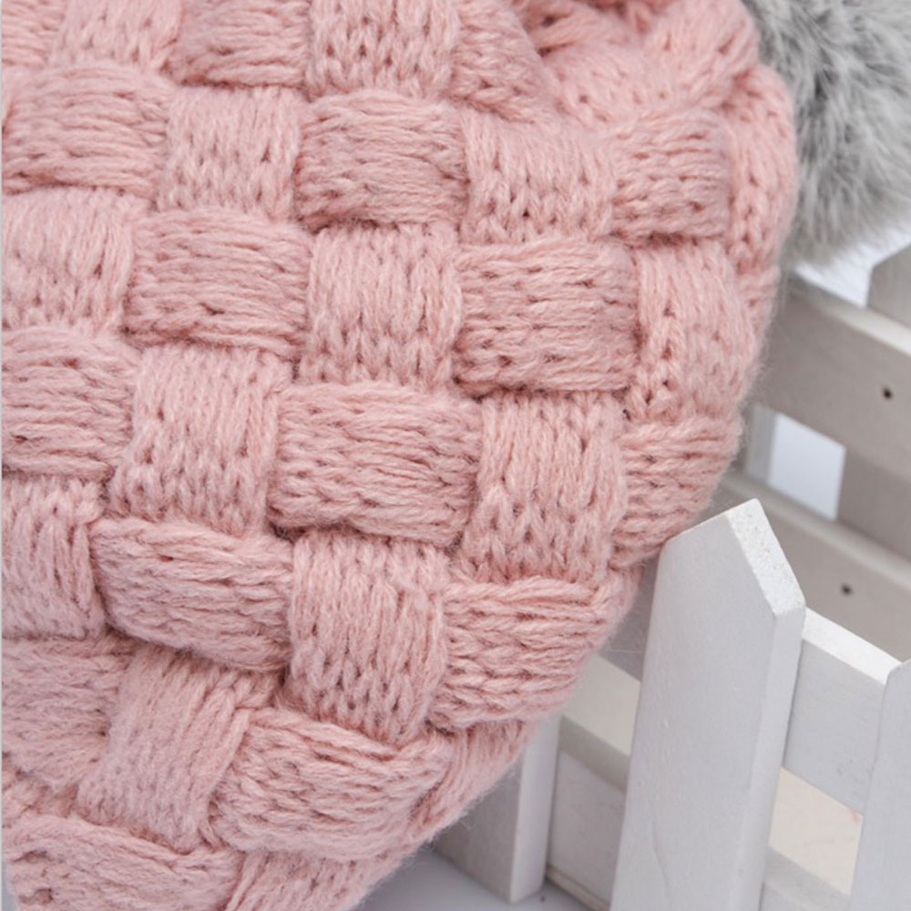 Real Rabbit Fur Knitted Baby Caps Cute Baby Photography Props Soft ...